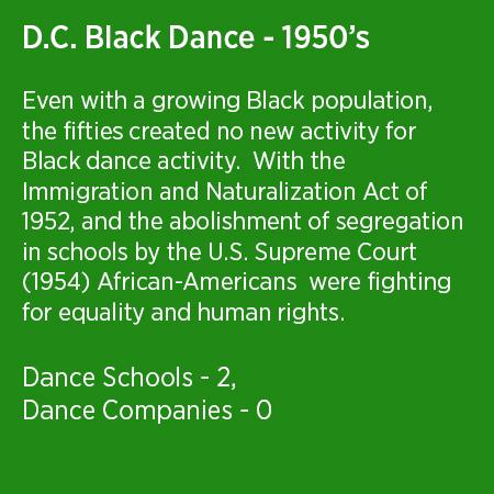 DC Black Dance 1950's